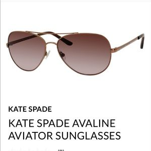 KATE SPADE AVALINE AVIATOR SUNGLASSES brand new